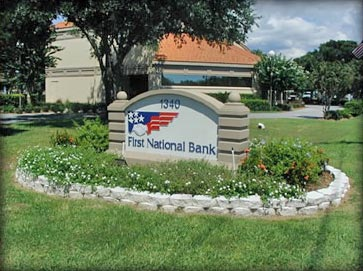 Polystyrene-Signs-1st-National-Bank
