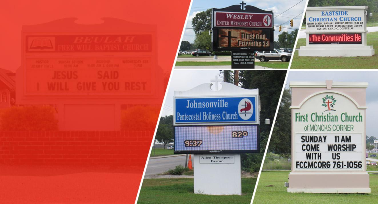 #1 church sign company south carolina